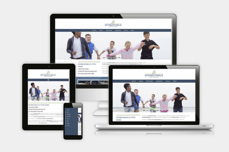 Responsive Webseite Internatsfamilie SPO - www.internatsfamilie.de