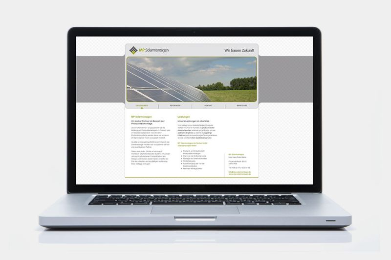 Referenz Webseite MP Solarmontagen