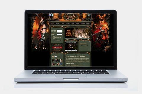 Webseite Dungeon Empires